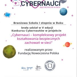 Nasza szkoła w gronie Cybernautów